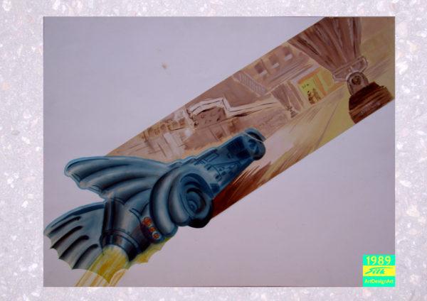 bat mobile by Silke Wolff
