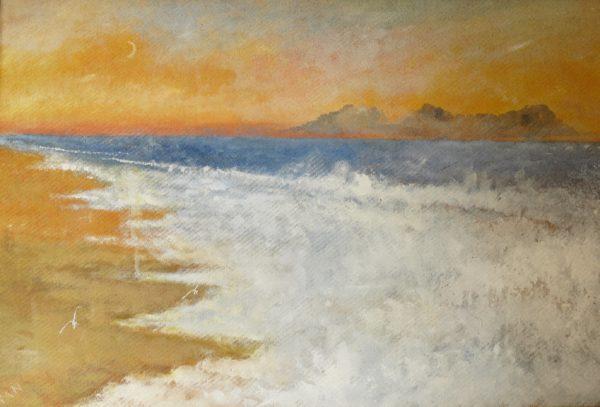 Foaming Beach by Mark Noble Art
