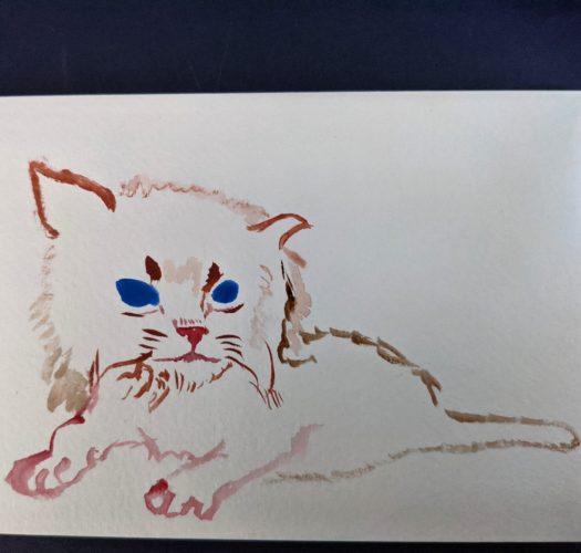 Kitten postcard by Ana Tewson-Bozic
