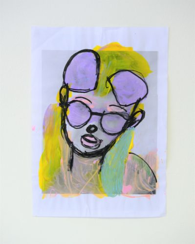 Self Portrait: Pop Art Colourful by Chloe Macfarlane