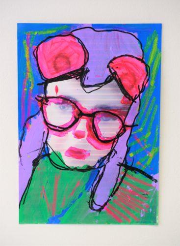 Self Portrait: Bright Colours by Chloe Macfarlane
