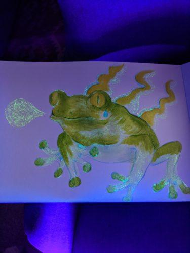 UV frog by Ana Tewson-Bozic